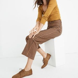 Slim Emmett Wide Leg Crop Pants in Desert Check